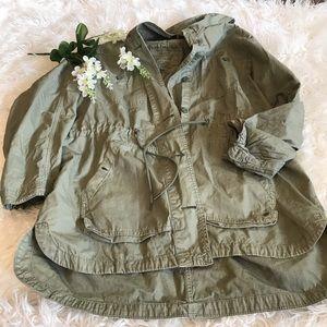 American Eagle Olive Utility Jacket
